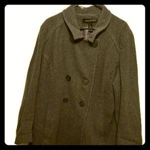 Lane Bryant 18/20 womens button down coat gray